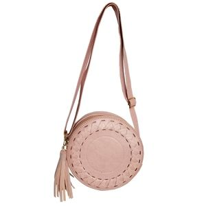 Justin & Taylor Light Pink Round Crossbody Handbag